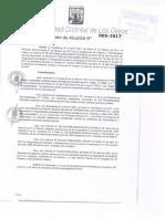 Da 005 2017 Aprobar La Numeracion de Las Vias Correspondientes a La Mz Dd3 Ubicada en La Av Huandoy