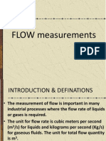 Flow measurements