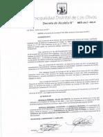 Da 003 2017 Dejar Sin Efecto Los Derechos de Tramite Que No Han Sido Ratificados en El Acuerdo de Concejo n 081 Mml