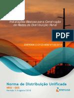 NDU 005 - Instalações Básicas Para Construção de Redes de Distribuição Rurais