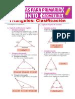 Clasificación de Los Triángulos Para Quinto de Primaria