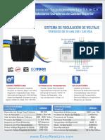 Regulador de Voltaje Dual 30kva Salidas Reguladas 208 / 240 VCA