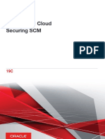 Oracle SCM Cloud Securing SCM 19C