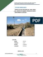 Estudio Hidrológico Canal Psi