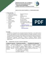 SÍLABO Estadistica y Probabilidad - Ing. Sistemas