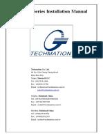 Manual de instalação techmation