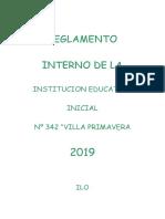 Reglamento interno de la IE