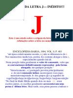 A Origem da Letra J no nome de Jesus