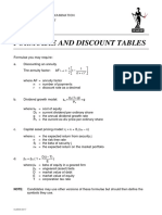Discount table