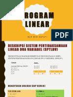 Program Linear Matematika kelas XI
