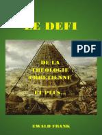 Le Defi de La Theologie Et Plus (EF)