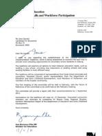 Letter on Coburg Education Taskforce From Minister Pike to Jane Garrett