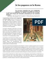 Persecución de los paganos en la Roma Antigua