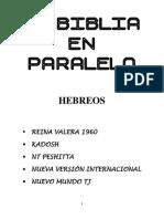Biblia en Paralelo Hebreos