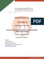 Propuesta Tecnica-procesos de Soldaura Asoc. Area Gasfiteria, Const. y Mineria