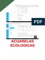 ACUARELAS ECOLOGICAS