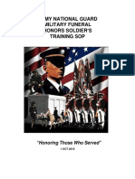 Army National Guard Military Funeral Honors Soldier s Training SOP 23 Nov 15