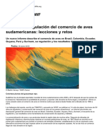 50 Años de Regulación Del Comercio de Aves Sudamericanas