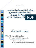 Reading Difficulties Disabilities