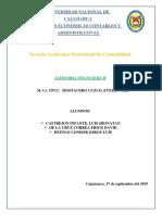 Auditoria de Cuentas x Cobrar