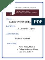 EDUCACIÓN,Realidad Nacional(1)