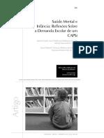 Saúde Mental e infância reflexões sobre a demanda escolar de um capsi.pdf