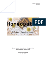 Homeopatía, informe