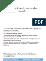 Renascimento Cultural e Científico