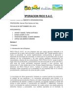 RICO POLLO Organizacion