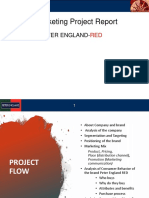 Marketing Project - Peter England-red