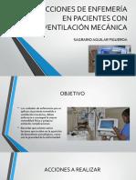 Acciones de Enfemería en Pacientes Con Ventilación Mecánica