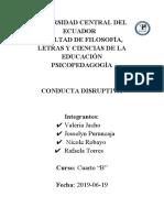 Disruptivo de Conductaa-psicopatología
