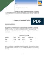 Definiciones de Administracion Financera y Objetivos Act 0
