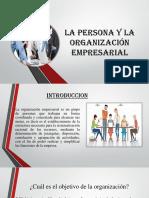 La Persona y La Organización Empresarial