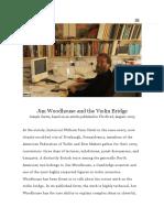 Jim Woodhouse and the Violin Bridge _ Joseph Curtin Studios
