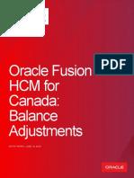 HCM CA Balance Adjustments White Paper June 2019