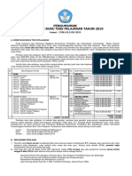 Pengumuman Pendaftaran Penilaian Btp 2019