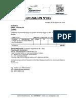 MODELO DE COTIZACION Limpieza de Tanque