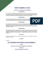 Decreto Del Congreso 16-2002