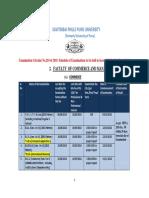 Revised Schedule Commerce Management Oct.2018 13.082018