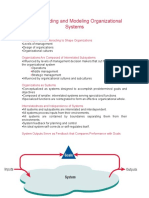 Understanding and Modeling Organizational Systems