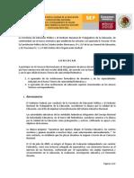Convocatoria Examen de Oposicion 2010 Nuevo Ingreso
