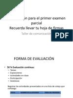 Información Para Examen Taller de Comunicaciòn