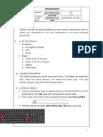 Jobsheet 1 MS. Excel