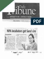 Daily Tribune, Oct. 3, 2019, NPA incubators get Sara's ire.pdf