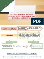 Análisis Probabilístico de Precipitación Total Anual y La