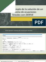 Solución de Un Sistema de Ecuaciones Lineales DEFINITIVO