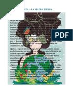 Carta a La Madre Tierra1
