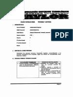 Silabo de Compensación, Provisional y Asistencial II Ciclo