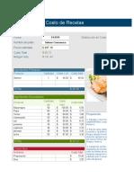 Calculadora de Costos y Receta Estandar